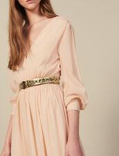 Cintura Con Fibbia Tonda E Occhielli : Cinture colore Oro