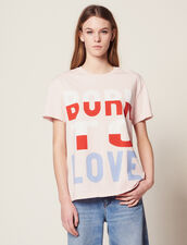 T-Shirt Con Scritta Born To Love : null colore Rosa