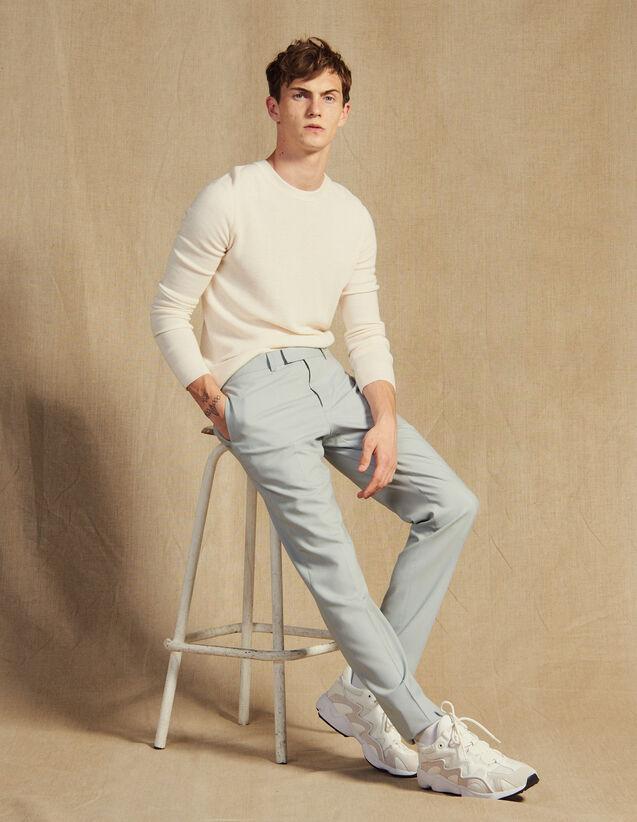 Pantaloni Da Completo In Lana : Abiti & Smoking colore Mastice