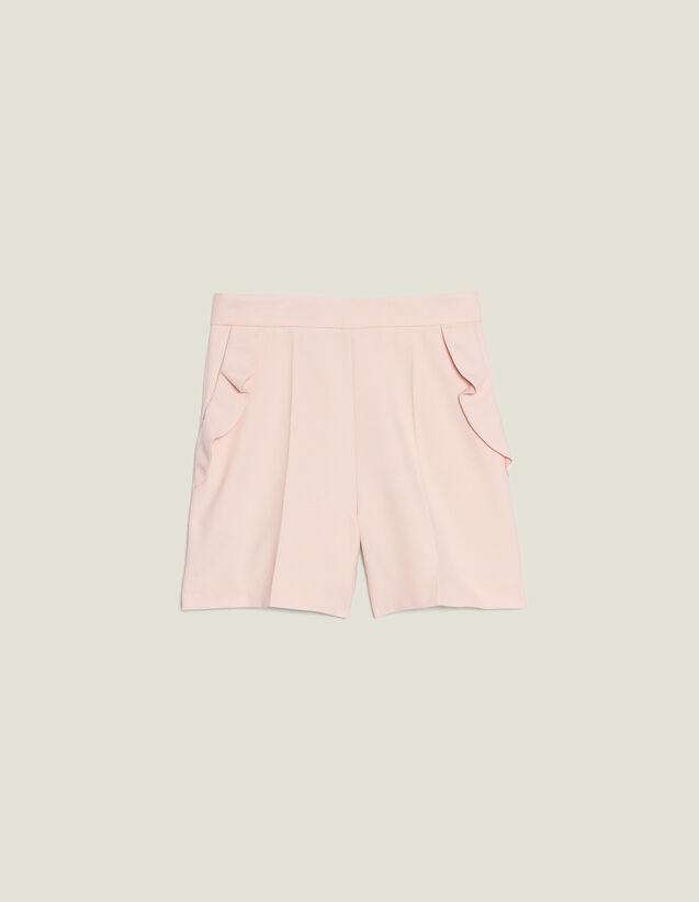 Short A Vita Alta Con Volant : null colore Rosa