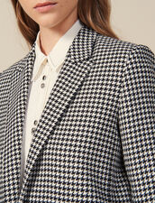 Giacca da tailleur in pied de poule : LastChance-ES-F20 colore Nero