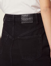Gonna Corta In Jeans : Gonne & Short colore Nero