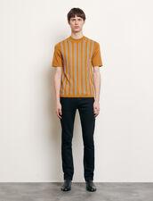 T-shirt in maglia a righe : Magliette & Polo colore Cammello