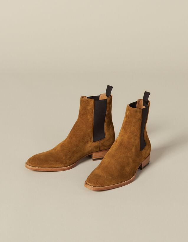 Chelsea In Pelle Scamosciata : Scarpe colore Caramello