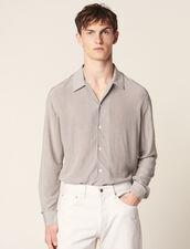 Camicia Fluida Con Micro Motivo : Camicie colore Nero/Bianco