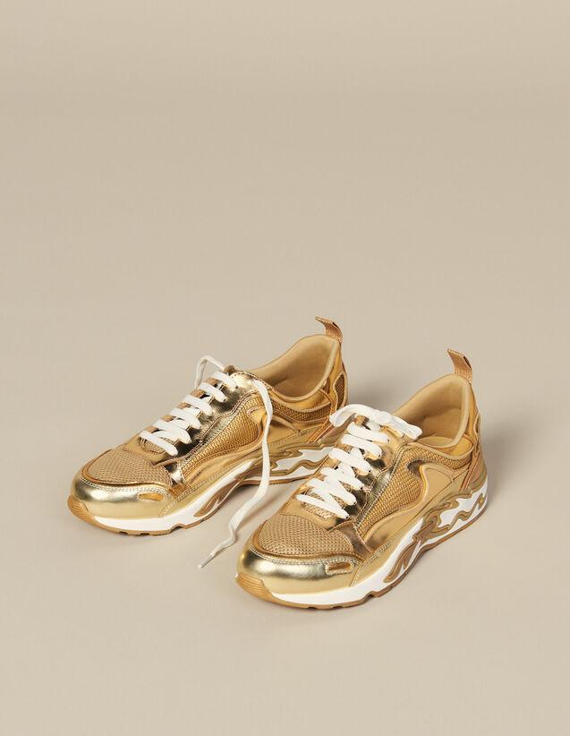 Sneaker Flame : Tutte le Scarpe colore Full Gold