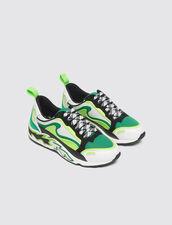 Sneaker Con Fiamme Sulla Suola : Borse & Accessori colore Vert fluo