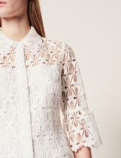 Robe Manteau En Guipure : null couleur Ecru