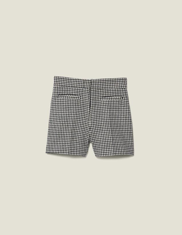 Short In Pied De Poule Coordinati : Gonne & Short colore Nero