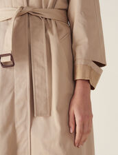 Cappotto Lungo Stile Trench : Cappotti colore Beige