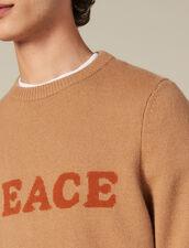 Pull en laine et cachemire à message : Toute la Sélection couleur Marine