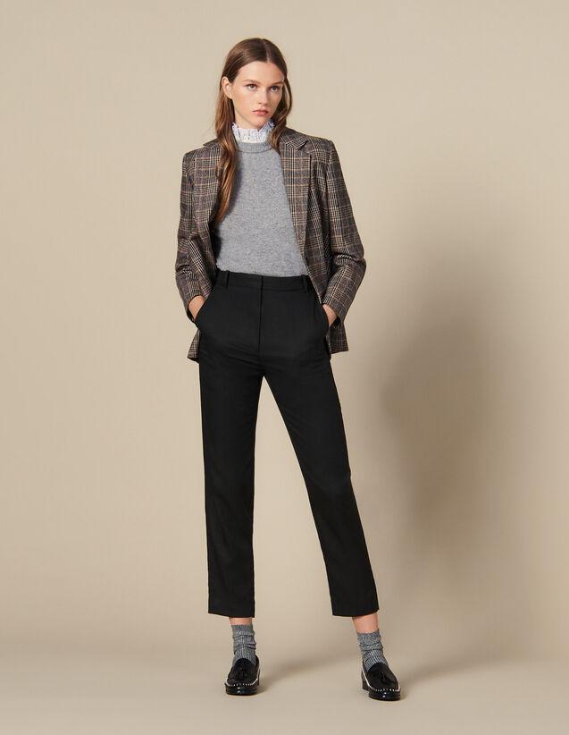 Pantaloni sciancrati con nervature : FBlackFriday-FR-FSelection-Pantalons&Jeans colore Nero
