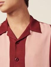 Camicia Fluida A Maniche Corte : Camicie colore Bordeaux