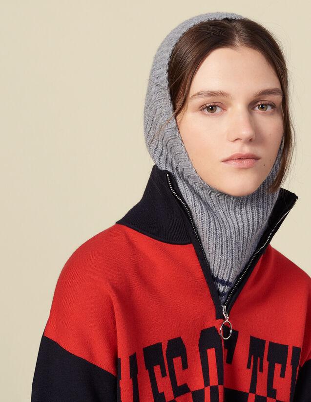 Cagoule en laine & cachemire : Gants & Bonnets couleur Crème