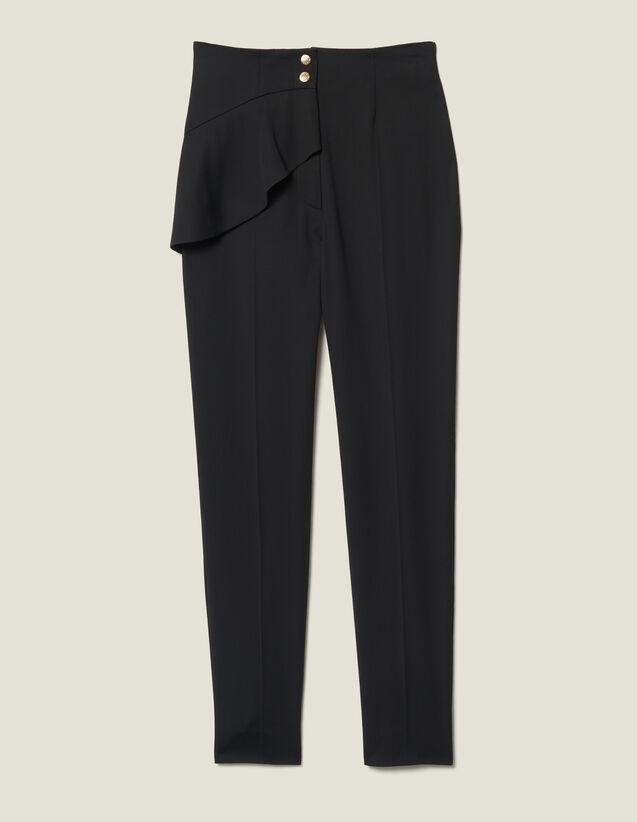 Pantaloni affusolati a baschina : LastChance-ES-F50 colore Nero