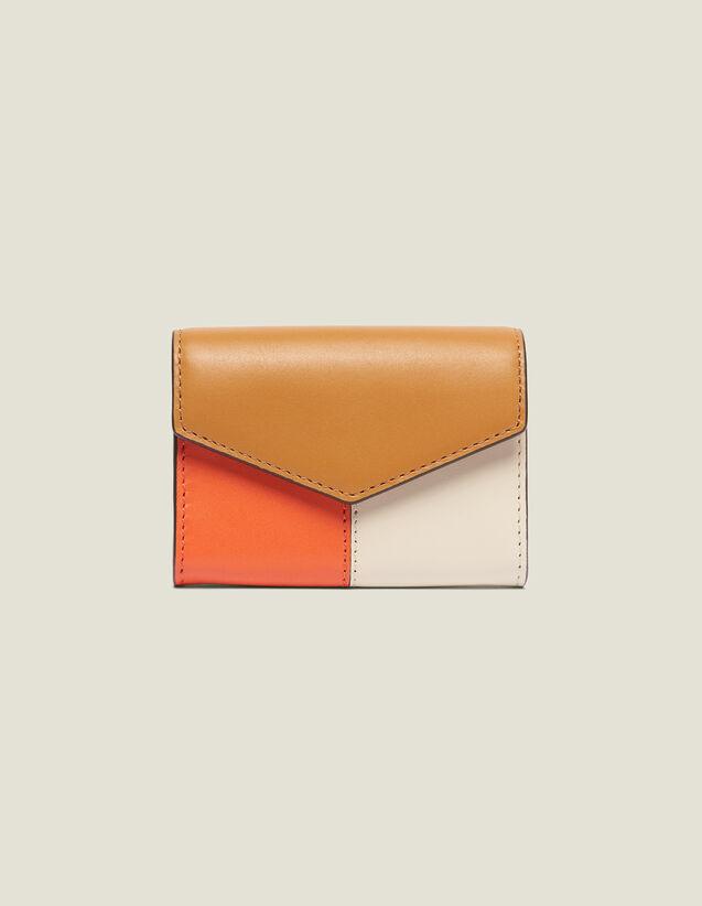 Portafoglio Modella Lou : Collezione Estiva colore Camel/Ecru/Orange