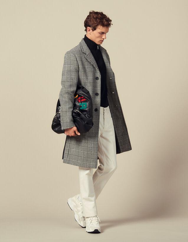 Cappotto Dritto Principe Di Galles : Trench & Cappotti colore Nero/Bianco