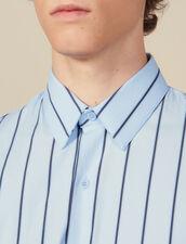 Camicia A Righe : Collezione Invernale colore BLU/NERO