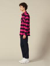 Camicia A Quadri In Cotone : Collezione Inverno colore Blu