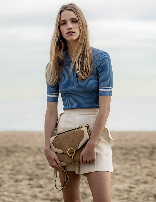 Pullover Stile Polo : LastChance-FR-FSelection colore Blue jeans