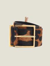 Cintura In Pelle Cavallino Stampata : L'intera collezione Invernale colore Leopardo