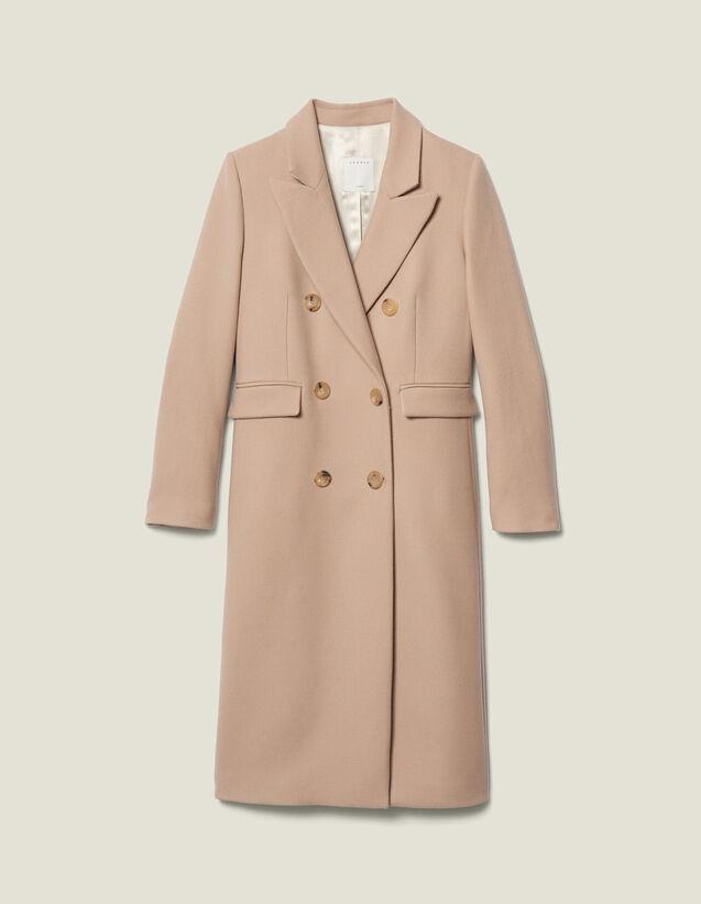 Cappotto In Lana Doppiopetto : Cappotti colore Beige
