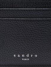 Porte-cartes en cuir grainé : Porte-cartes & Portefeuilles couleur Noir