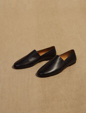 Slipper In Pelle A Grana : Sélection Last Chance colore Nero