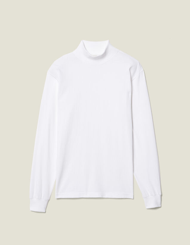 T-Shirt Con Collo A Lupetto : Magliette colore Bianco