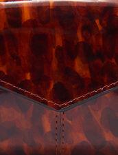Portafoglio In Pelle Verniciata Stampata : Piccola Pelletteria colore Leopard orange