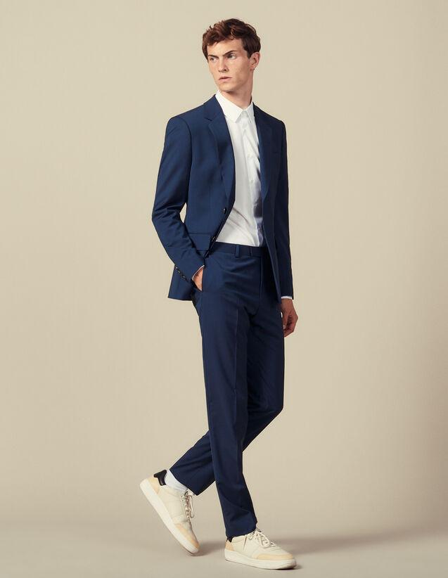 Pantalon De Costume Classique Super 110 : HCollectionHiver couleur Pétrole