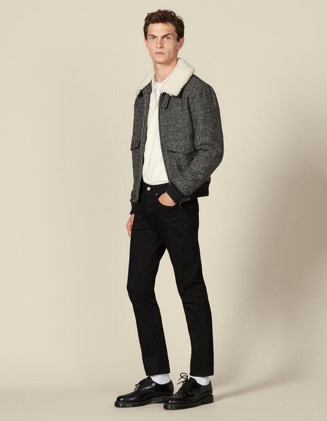 Giacca aviatore in lana : Giubbotti & Giacche colore Grigio