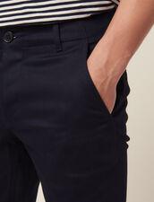 Pantaloni Chino Dritti : Sélection Last Chance colore Blu Marino