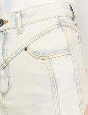 Gonna in jeans snow washed : Gonne & Short colore Blue Vintage - Denim