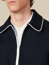 Giubbotto Teddy Con Profilo A Contrasto : Giubbotti & Giacche colore Blu Marino