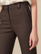 Pantalon À Carreaux : Pantalons couleur Multicolore