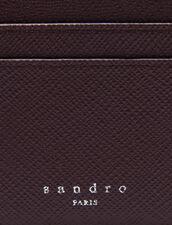 Porta carte in pelle : Porta carte & Portafogli colore Bordeaux