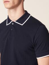 Polo In Piqué Di Cotone : LastChance-RE-HSelection-Pap&Access colore Blu Marino