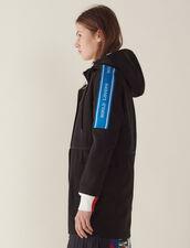 Manteau Coupe-Vent Avec Galons À Message : LastChance-FR-FSelection couleur Noir