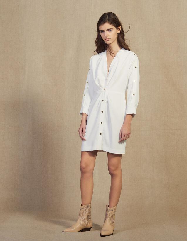 Robe Courte Ornée De Pressions Dorées : FBlackFriday-FR-FSelection-30 couleur Marine