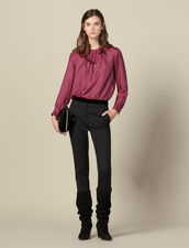 Pantaloni da completo dritti : Pantaloni colore Nero
