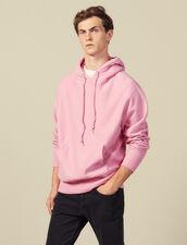Felpa Con Cappuccio In Cotone : Felpe colore Rosa