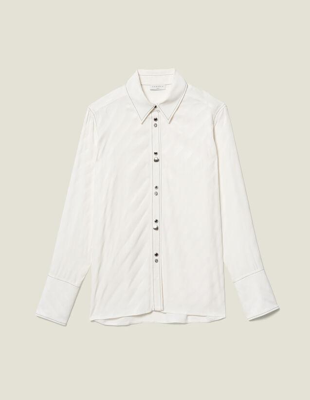 Camicia Con Bottoni Gioiello : LastChance-ES-F50 colore Ecru