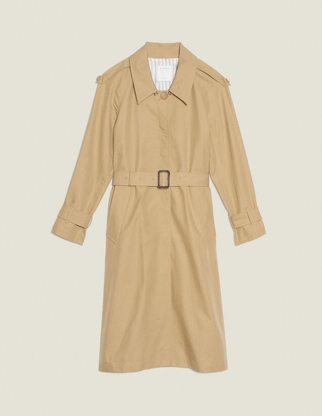 Cappotto Stile Trench Con Cintura : Cappotti colore Beige