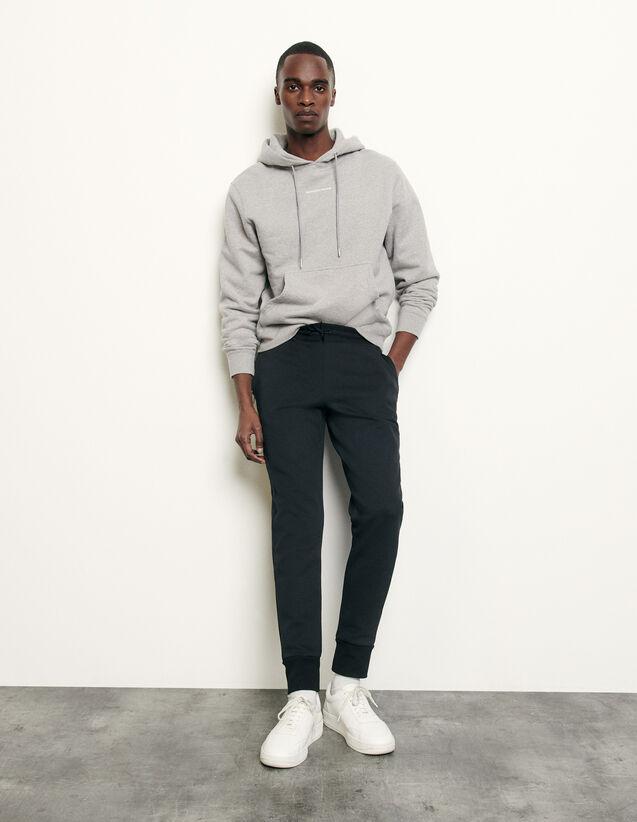 Jogging in tessuto tecnico : Pantaloni & Short colore Nero