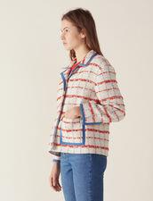 Veste De Blazer En Tweed : null couleur Multicolore