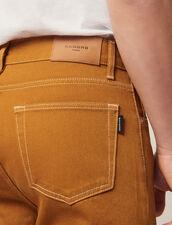 Pantaloni In Tela Di Cotone : Sélection Last Chance colore Ocra