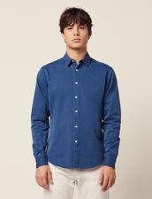 Camicia Casual In Chambray Délavé : Sélection Last Chance colore Blue Vintage - Denim