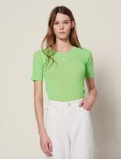 T-Shirt Fluo In Maglia : Top & Camicie colore Vert fluo