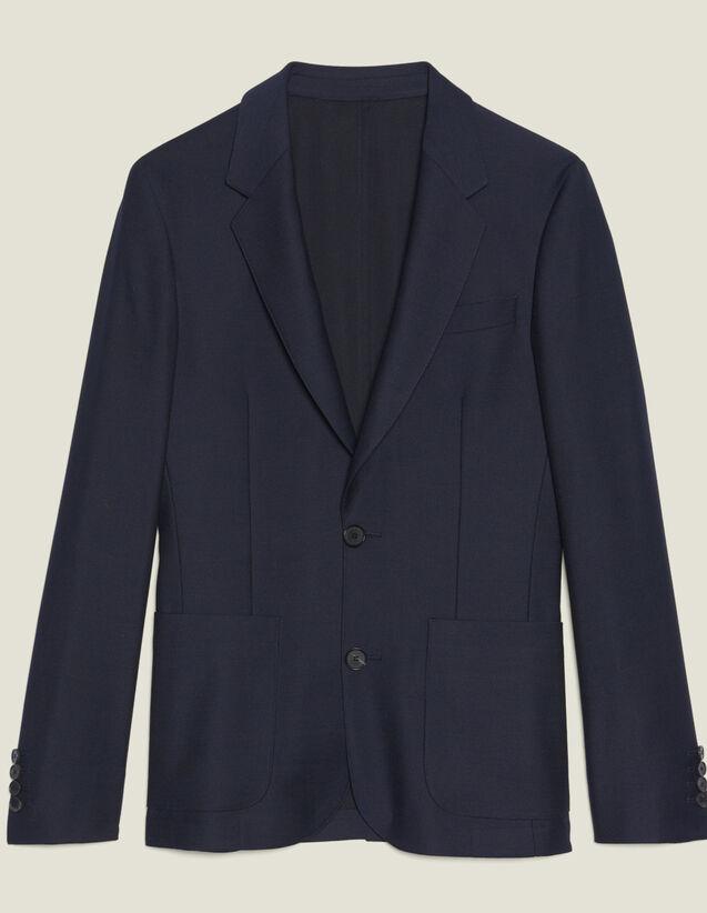 Giacca Da Completo In Lana Panama : Abiti & Smoking colore Blu Marino